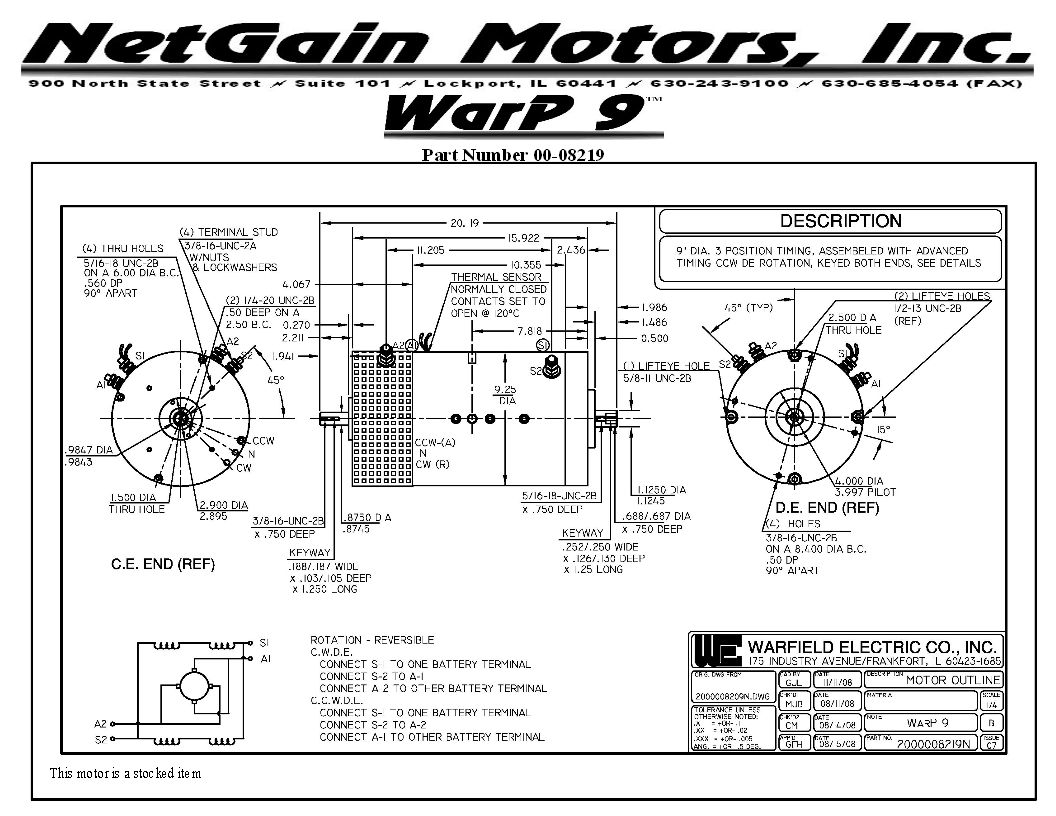 1993 Honda Del Sol S Ev Need Help With Adapter Plate Diy Electric Electrical Wiring Diagrams Http Wwwdiyelectriccarcom Forums Maximise And Look At The Left Side Of Diagram That Would Be Back Motor You Will See Marking Cw Ccw I Believe There Is A Bolt